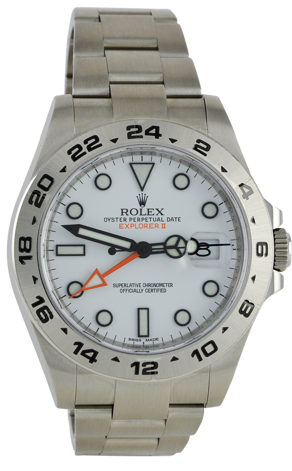 Explorer II 216570 Orange Hand White Dial
