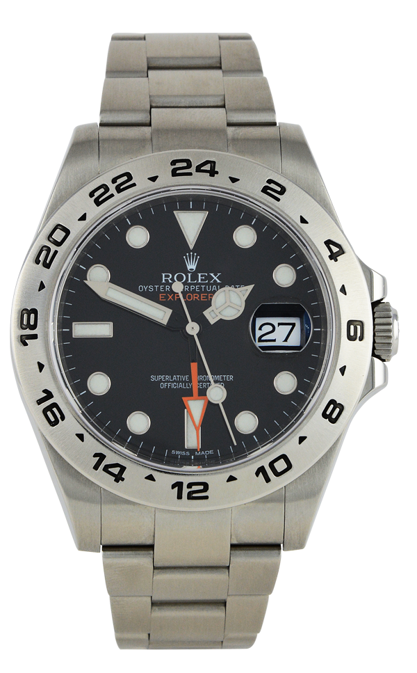 Explorer II 216570 Orange Hand Black Dial
