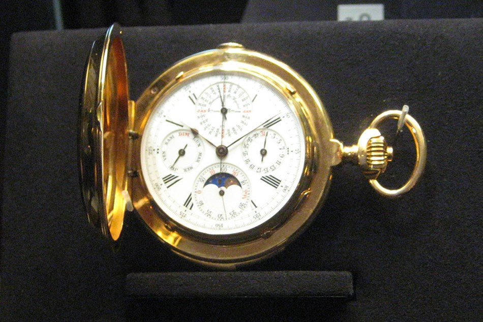Vacheron Constantin Triple complication pocket watch, 1901. Simple Chronograph, minute repeater, perpetual calendar with 48-month dial