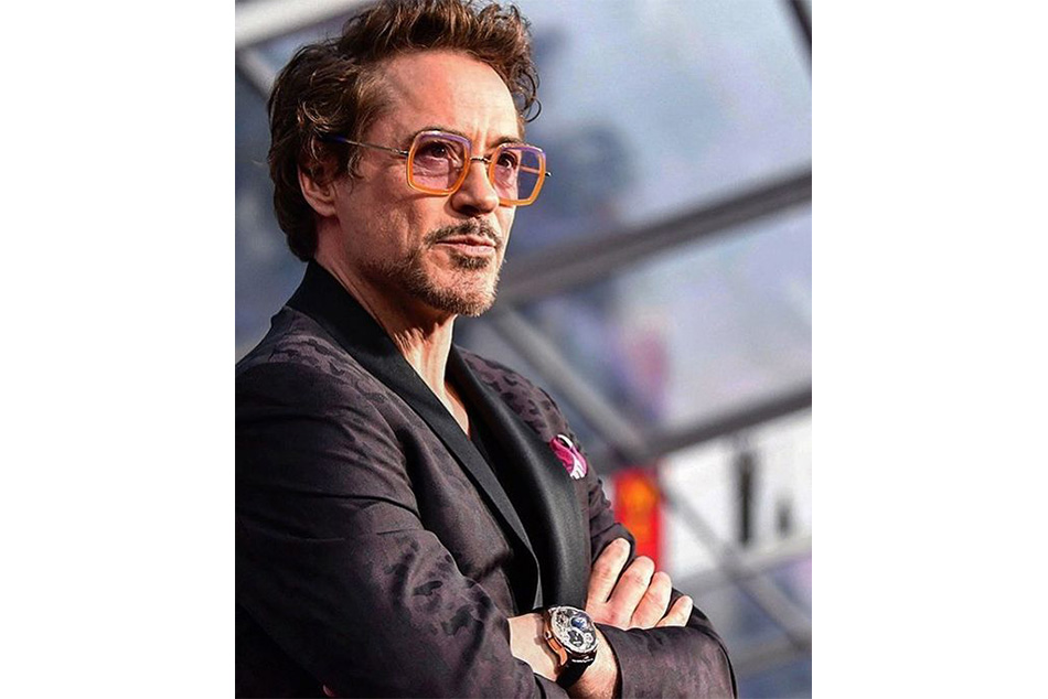 Robert Downy Jr wearing a Tourbillion